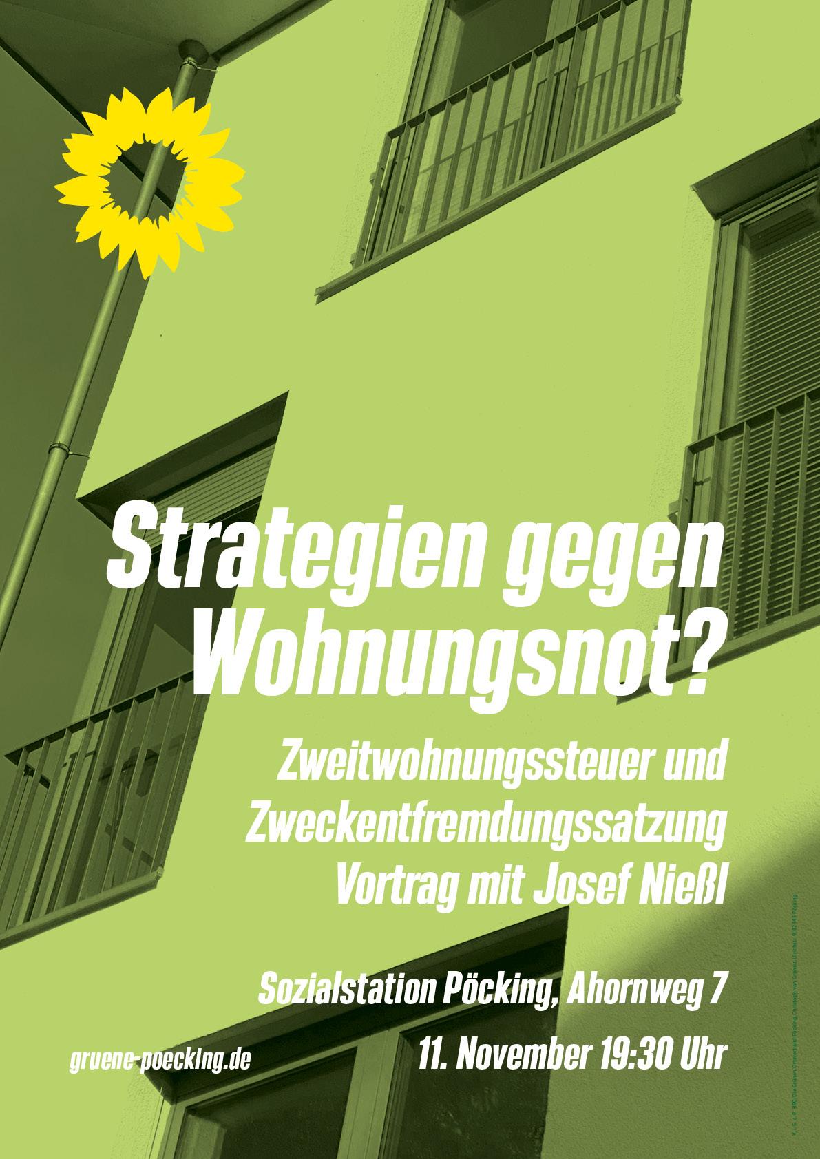 11. November 2021 um 19:30: Vortrag – Strategien gegen Wohnungsnot?
